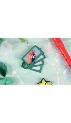 TARIFOLD - Cadres d'affichage adhésif 80x45mm vert - Sachet de 4