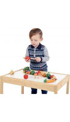 Légumes géants en bois à lacer - Boite de 24