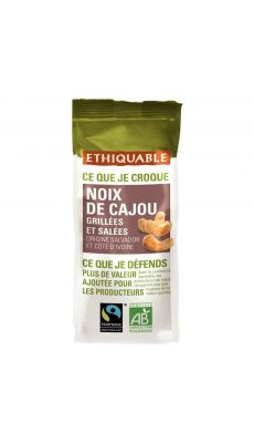 Noix de Cajou grillés Bio - Paquet de 100g