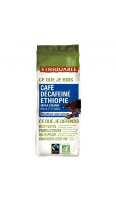 Café Décaféiné sans solvant, d'Ethiopie, équitable et bio - Paquet de 250g