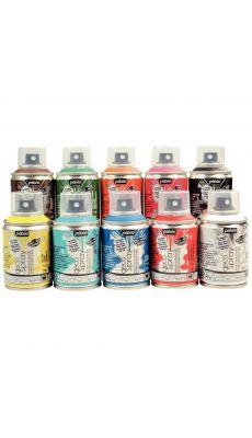 PEBEO - 093798 - Peinture acrylique en spray 100ml - Lot de 10
