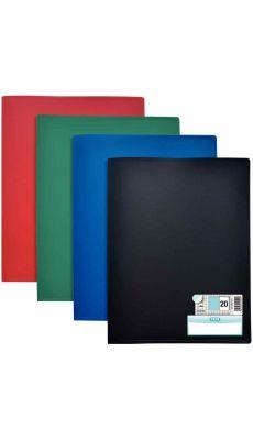 Elba - 100206070 - Protège-document fixe - Assortie - 40 Vues - Carton de 10