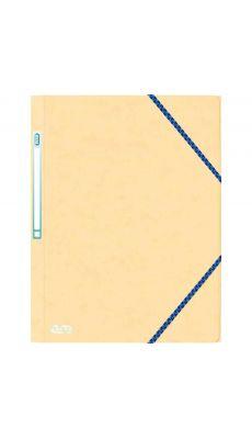 L'OBLIQUE - 400080171 - Chemise 3 rabats élastiques en carte lustrée 390g - 24x32 cm - Ivoire