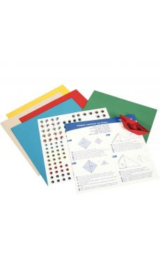 Kit origami : initiation, 30 feuilles 20 x 20 cm assortis