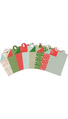 MAILDOR - 354591 C - Feuilles carton décoration assorties 25 x 35 cm, thème Noël - Paquet de 40