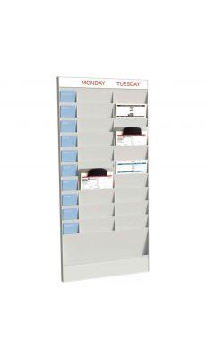 PAPERFLOW - PD20A4.02 - Planning 20 cases A4 élément départ