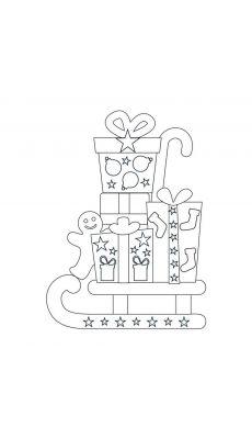 MAILDOR - AE097 O - Formes de Noël à colorier et à sticker à l'aide des gommettes géométriques - Pochette de 20