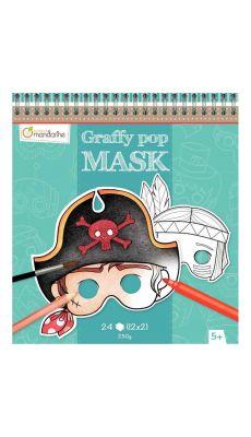 MAILDOR - GY022 O - Masques en carton thème garçon à décorer - Carton de 24