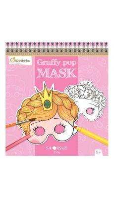 MAILDOR - GY021 O - Masques en carton thème fille à décorer - Carton de 24