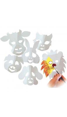 Maxi masques en carton, thème animaux - Lot de 30
