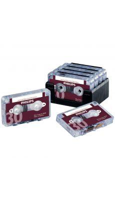 PHILIPS - LFH005 - Mini-cassettes 2x15 Philips - Boîte de 10