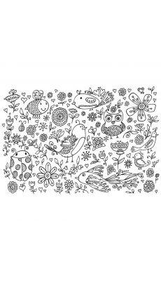 Coloriage géant thème Champêtre - Format 70x100 cm - Lot de 5