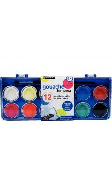OMYACOLOR - 651055 - Gouache aquarelle 30mm assorti - boite 12 pastilles