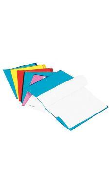 Protege cahier cristal 24x32 luxe jaune