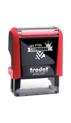 """PRINTY - Tampon Les P'tits Champions, formule """"Champion de géométrie"""""""