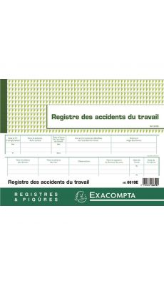 Exacompta - 6619E - Registre des Accidents du travail bénins 24x32cm