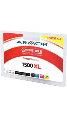 ARMOR - B10404R1 - Cartouche d'encre compatible Canon PGI1500XL noir / cyan / magenta et jaune