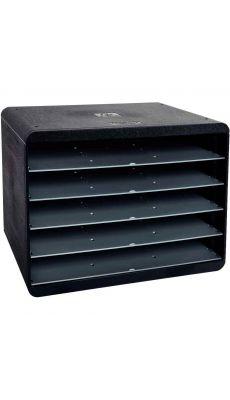 Exacompta - 305714D - Module à l'italienne 5 compartiments noir