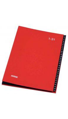 Extendos - 762.3209 - Trieur numérique 31 compartiments - Rouge