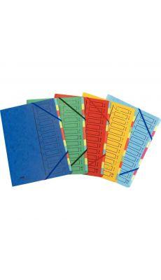 Extendos - 17.22 - Trieur carte lustrée 12 compartiments - Assortie