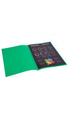 Exacompta - 800004E - Sous-chemise 80g ROCK'S - 22x31cm  - Vert sapin - Paquet de 100