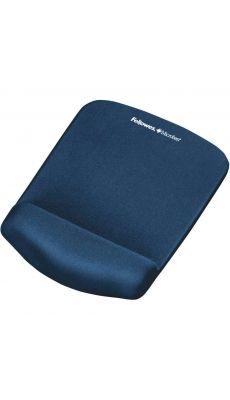 Fellowes - CRC 92873 - Tapis de souris repose-poignet Plush touch - Bleu
