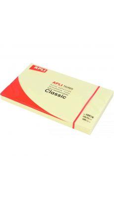 APLI AGIPA - 10976 - Bloc de 100 feuilles notes adhésives repositionnable - Format 125x75mm - Jaune