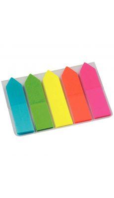 Carte de 5 x 25 flèches Marque-pages translucide coloris assortis