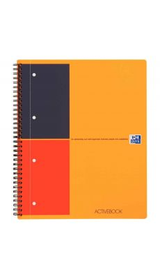 OXFORD INTERNATIONAL - 100102994 - Cahier ACTIVEBOOK à reliure intégrale 160 pages perforées 4 trous détachables, A4+ 23 x 29,7