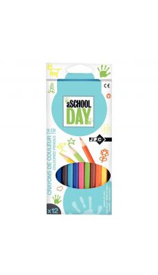 Crayon de couleur assorti - pochette de 12