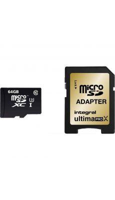 Integral - INMSDX64G10-9 - Carte Mémoire Micro SDXC - 64 Go