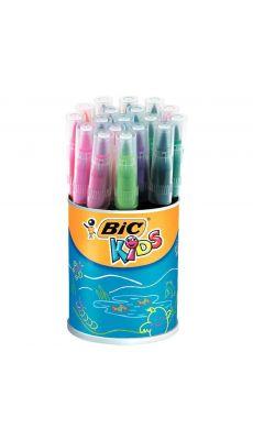 Bic kids - 828965 - Feutre visaquarelle pointe pinceau assorti - Pot de 18