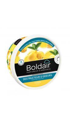Boldair - 607625 - Boîte de gel destructeur d'odeurs senteur Citron