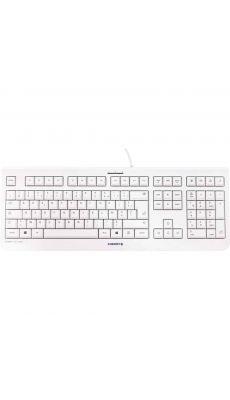 Clavier Cherry Filaire modele KC 1000 coloris Blanc grisé