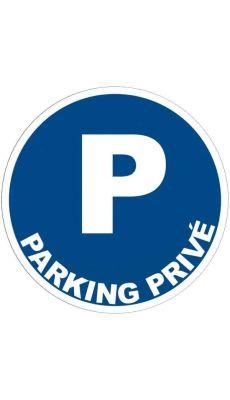 Panneau signalétique en PVC rond adhésif - Parking privé