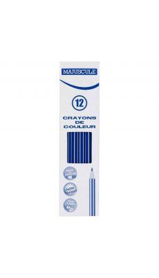 Crayon de couleur MAJUSCULE bleu foncé - Boite de 12