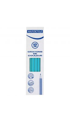 Crayon de couleur MAJUSCULE bleu clair - Boite de 12
