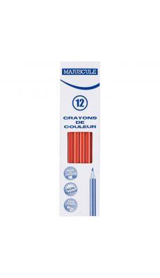 Crayon de couleur MAJUSCULE rouge - Boite de 12
