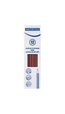 Crayon de couleur MAJUSCULE marron - Boite de 12