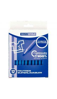 Feutres pointe moyenne bleu clair - Pochette de 12