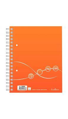 Cahier à reliure intégrale Excellence 160 pages format A5+ quadrillé 5x5, 70g