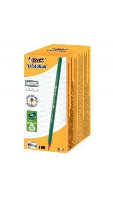 BIC - 465121 - Schoolpack de 100 crayons Evolution HB dont 5 gratuits