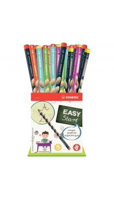 STABILO - F49498 - Godet de 36 crayons graphite Easygraph 24 droitiers + 12 gauchers