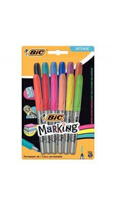 BIC - 943269 - Marqueur permanent Marking Colors assortis - Blister de 12