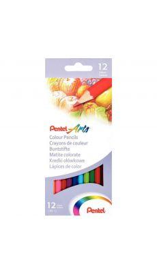 Pentel - 024152 - Crayon de couleur assorti - Etui de 12