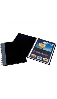 Adoc - 5832-700 - Reliure de présentation BIND-EX équipée de 30 pochettes interchangeables - Noir