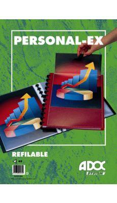 Adoc - 5232-705 - Reliure de présentation BIND-EX personnalisable équipée de 30 pochettes interchangeables - Noir