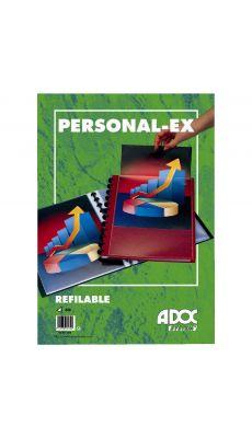 Adoc - 5232-305 - Reliure de présentation BIND-EX personnalisable équipée de 30 pochettes interchangeables - Bordeaux