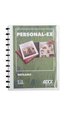 Adoc - 5232-905 - Reliure de présentation BIND-EX personnalisable équipée de 30 pochettes interchangeables - Blanc
