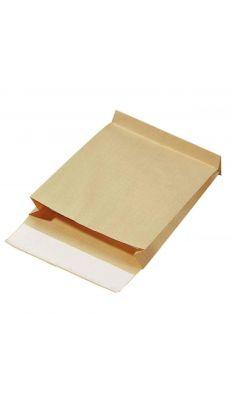 Enveloppe kraft armé 280x365 soufflet 7 cm - Paquet de 50 pochettes
